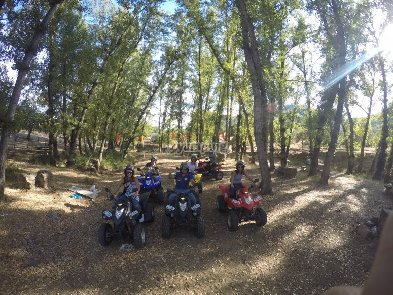 Paseo en quad con niños