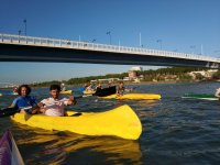 Canoeing route through Seville
