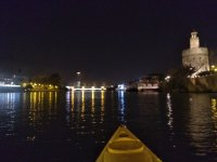 Seeing the Golden Tower from the canoe