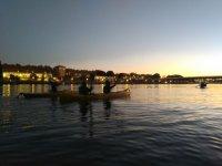 Atardecer en Sevilla con las canoas