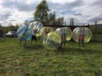 Partida de paintball y bubble soccer en Huesca 2 h