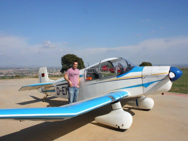 Ultralight aircraft baptism in Pontevedra
