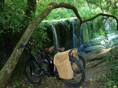 在la Garrotxa的三小时电动自行车路线