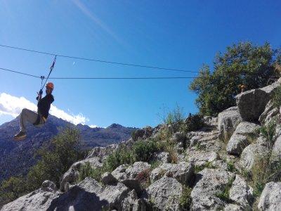 Vía ferrata en Montejaque en Málaga de 2 horas