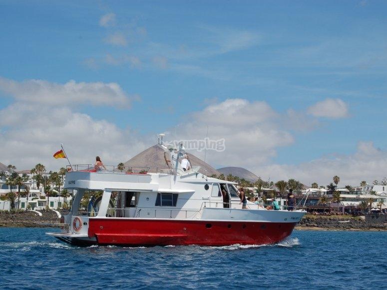 Navegando el yate