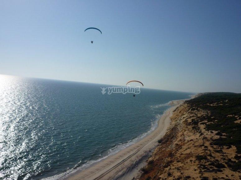 Sobrevolando la costa