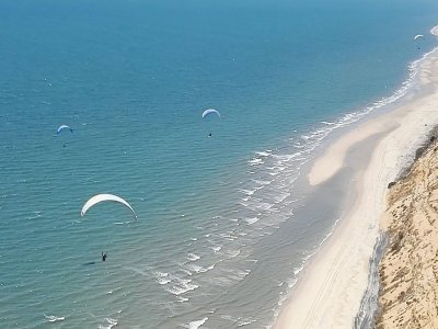 Vuelo en parapente en playa de Huelva y vídeo HD