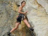 Manteniendo el equilibrio en la roca