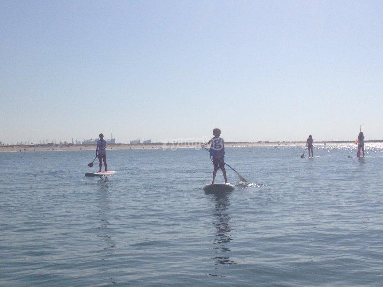 Haciendo paddle