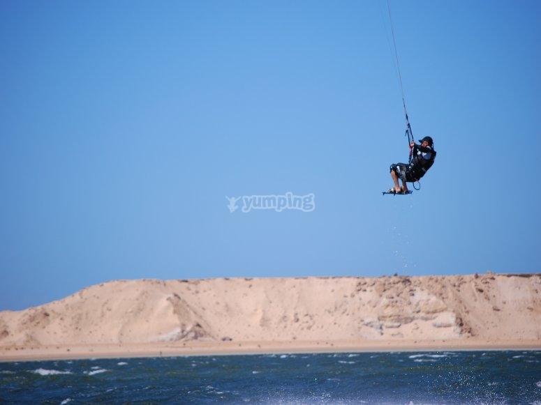风筝冲浪飞行