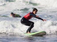 Iniciacion al surf en el mar