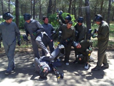Despedida de paintball en Cádiz con 400 bolas