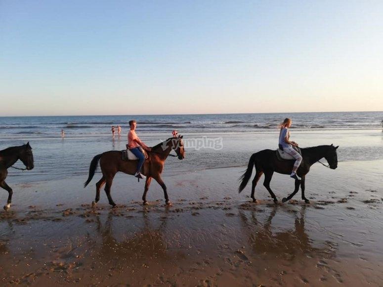 Romántica ruta a caballo