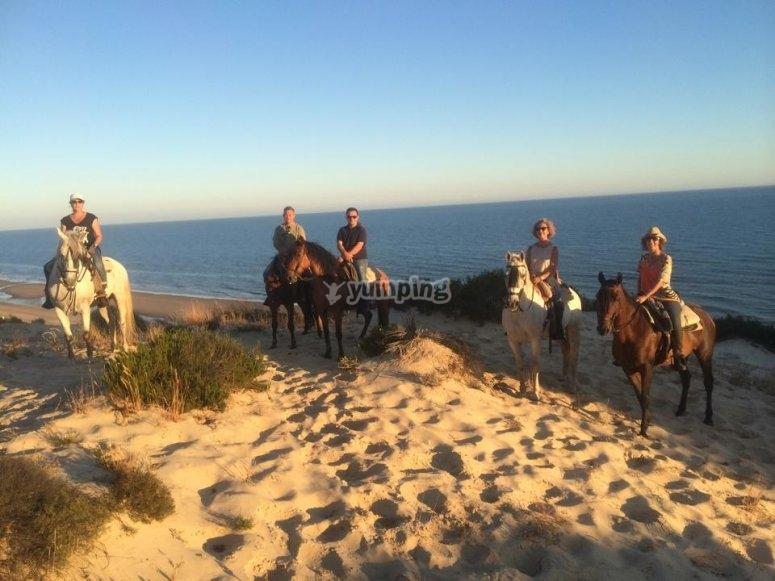 Una preciosa ruta a caballo en Doñana