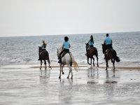 Cabalgando por la orilla de Huelva