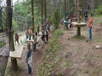 高空滑索和食品学校团体的电路