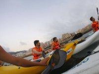 Enjoying the sea on the kayak
