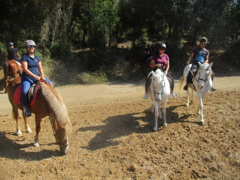 Excursión a caballo en el Montseny