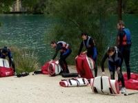 Paddle surf con todo el equipo
