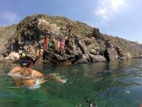 Snorkel en una cala