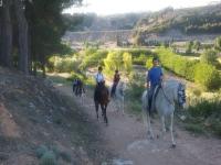 1h horseriding + meal in Ocaña