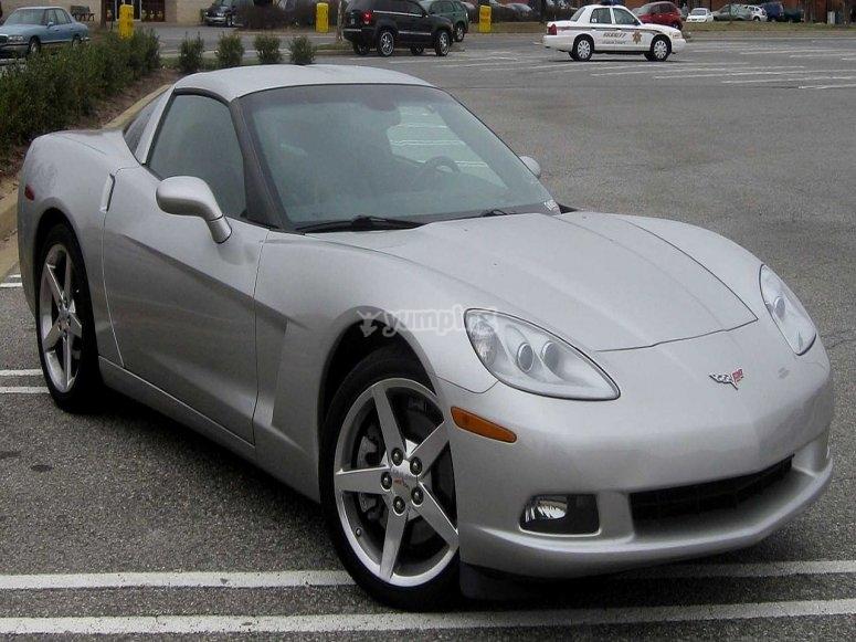 Silver corvette c6