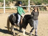 Disfrutando del pony