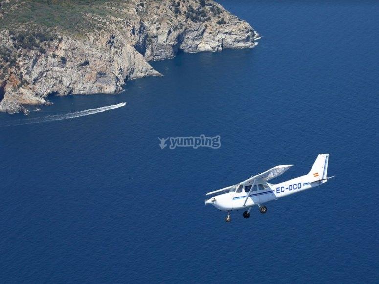 Volando sobre el litoral de Girona