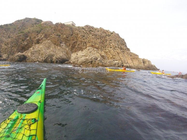 Costa desde el kayak