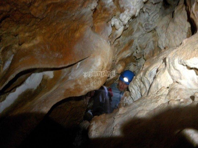 Dentro de la cueva de Nivar