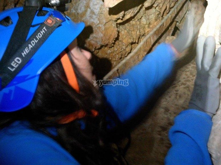 Explorando la sima de Nivar