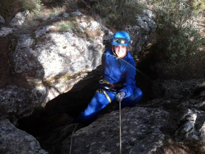Caving in the Fissure of Nivar in Granada