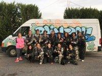 Equipo de paintball femenino