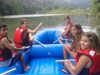 Rafting en aguas tranquilas