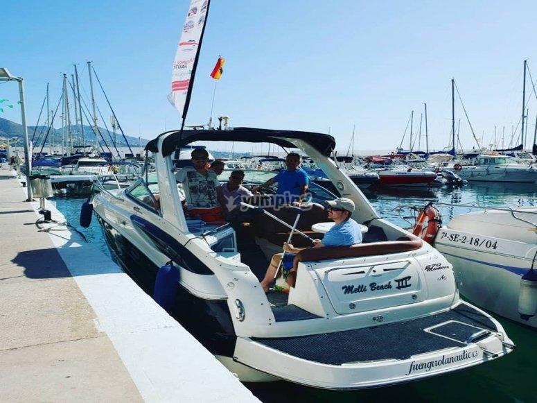 Alquila el barco con patrón en Málaga