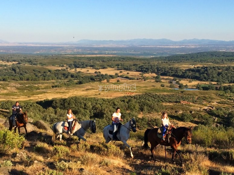Horse riding in an incomparable location