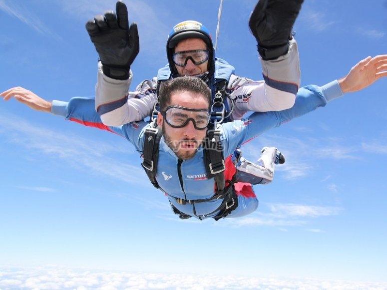 跳伞跳高在马德里附近