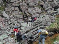 Ruta de senderismo por zonas rocosas