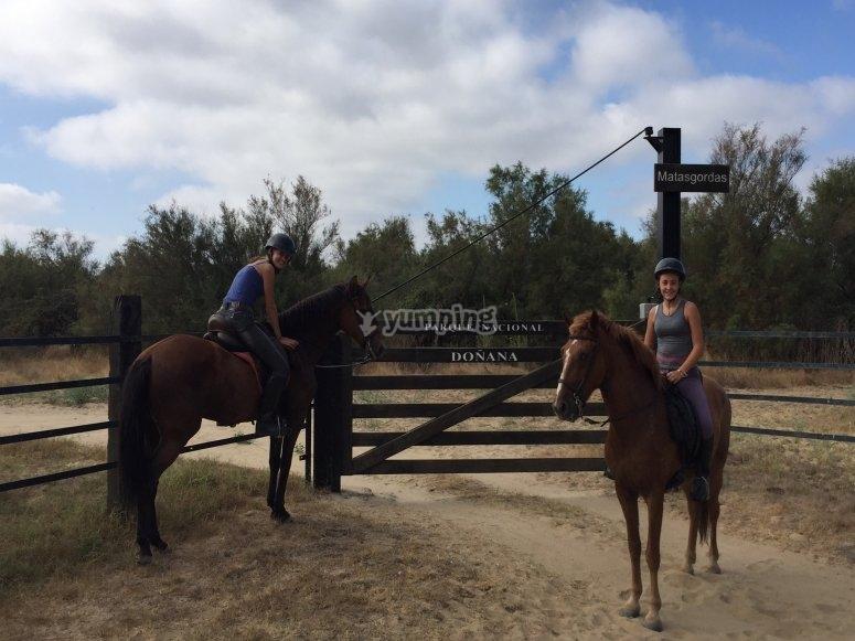 Montar a caballo en El Rocío