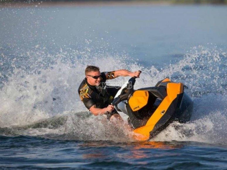 Driving the jet ski