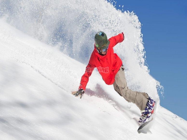 Practicando snow