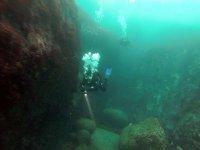 水肺潜水,在大西洋从Sisargas实践淹没