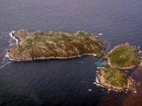 群岛Sisargas Sisargas群岛在加利西亚