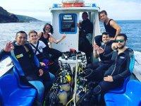 Nevagando在加利西亚大西洋潜水