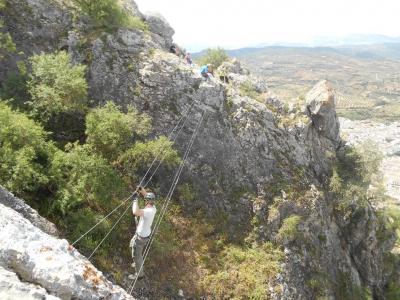 通过Sierra de Gracia的Ferrata