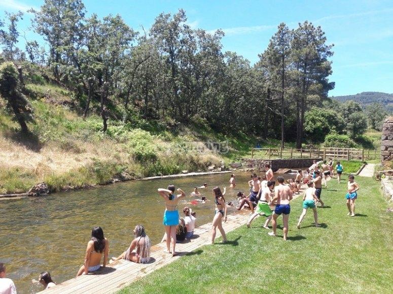 A swim in the river