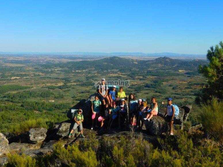 Trekking with instructors