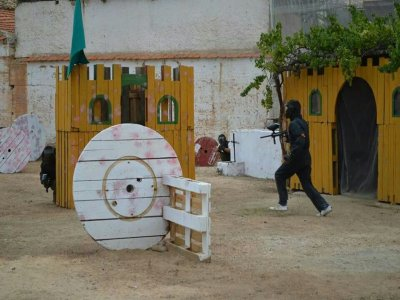 Paintball game in Villagordo with 200 balls