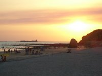 La Barrosa beach at sunset