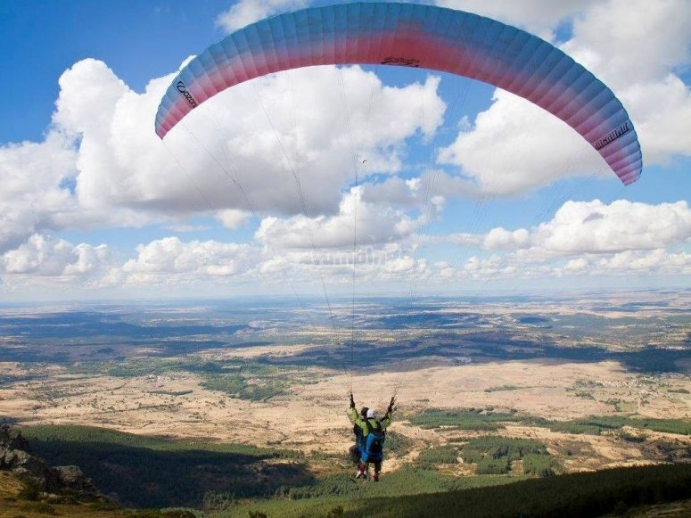 滑翔伞起飞